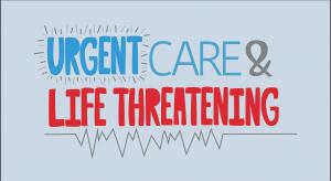 Urgent care and life threatening